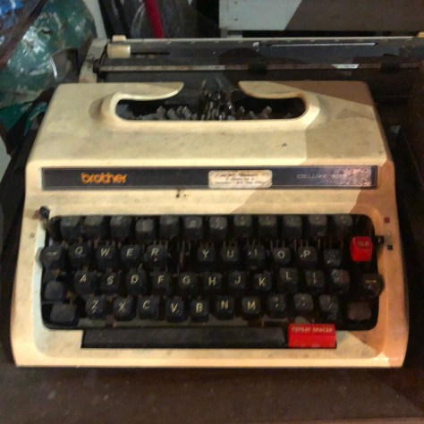 Typewriter: Brother at Manshed, Sanur Indonesia