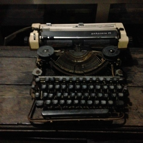 Typewriter: Gabriele at Hip Inn, Phitsanulok Thailand (1)