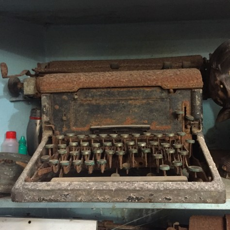 Typewriter: Busted and rusted in Fort Galle, Sri Lanka