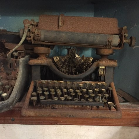 Typewriter: Rusted and busted in Fort Galle, Sri Lanka