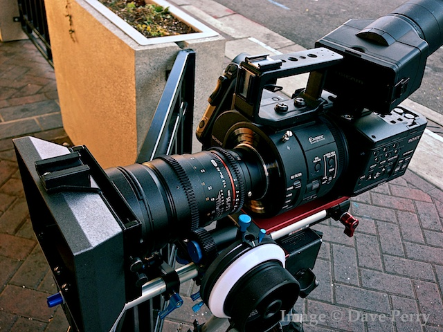 FS700 with 35mm T1.5 Rokinon Cine Lens