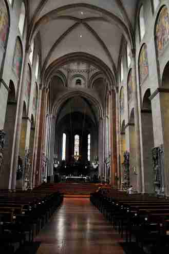 Inside the Dom in Mainz