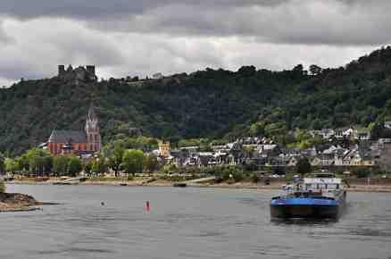 Barge traffic on the Rhine