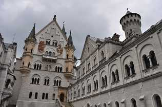 Neuschwanstein from the courtyard