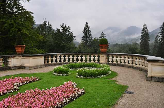 Section of garden at Linderhof