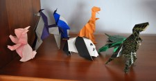 Rabbit, Horse, Penguin, Two Dinosaurs, Panda, obscured Frog and Turtle