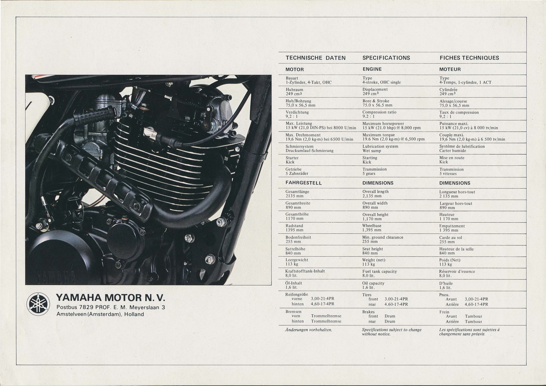 Yamaha Dt400