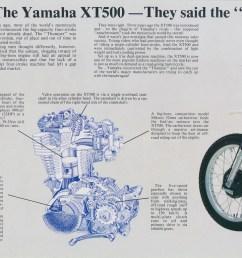 1979 xt500f uk model brochure  [ 1100 x 778 Pixel ]