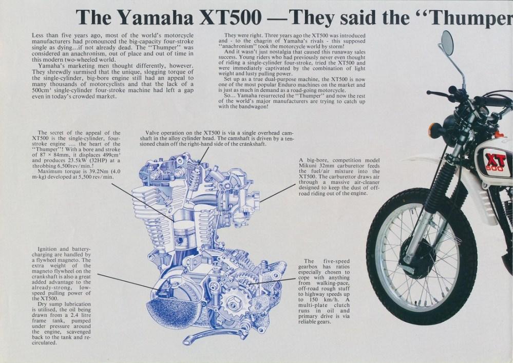 medium resolution of 1979 xt500f uk model brochure