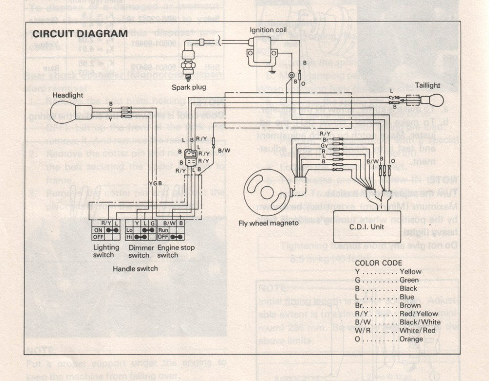 medium resolution of wiring diagram for a 1979 yamaha dt 125 simple wiring diagram schema1979 yamaha 250 wiring diagram