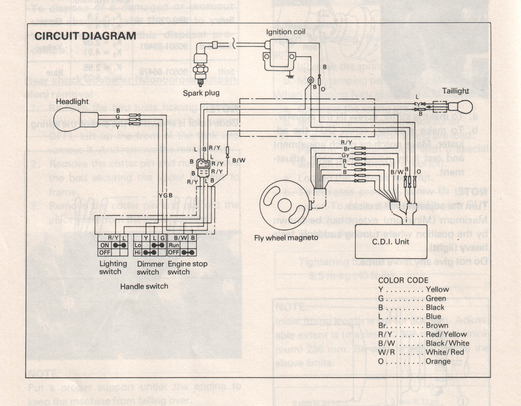 hight resolution of wiring diagram for a 1979 yamaha dt 125 simple wiring diagram schema1979 yamaha 250 wiring diagram