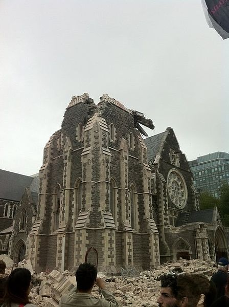Chch Cathedral 2011 Quake