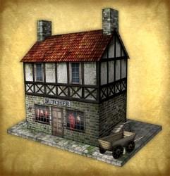Butcher s shop model PaperModelers com