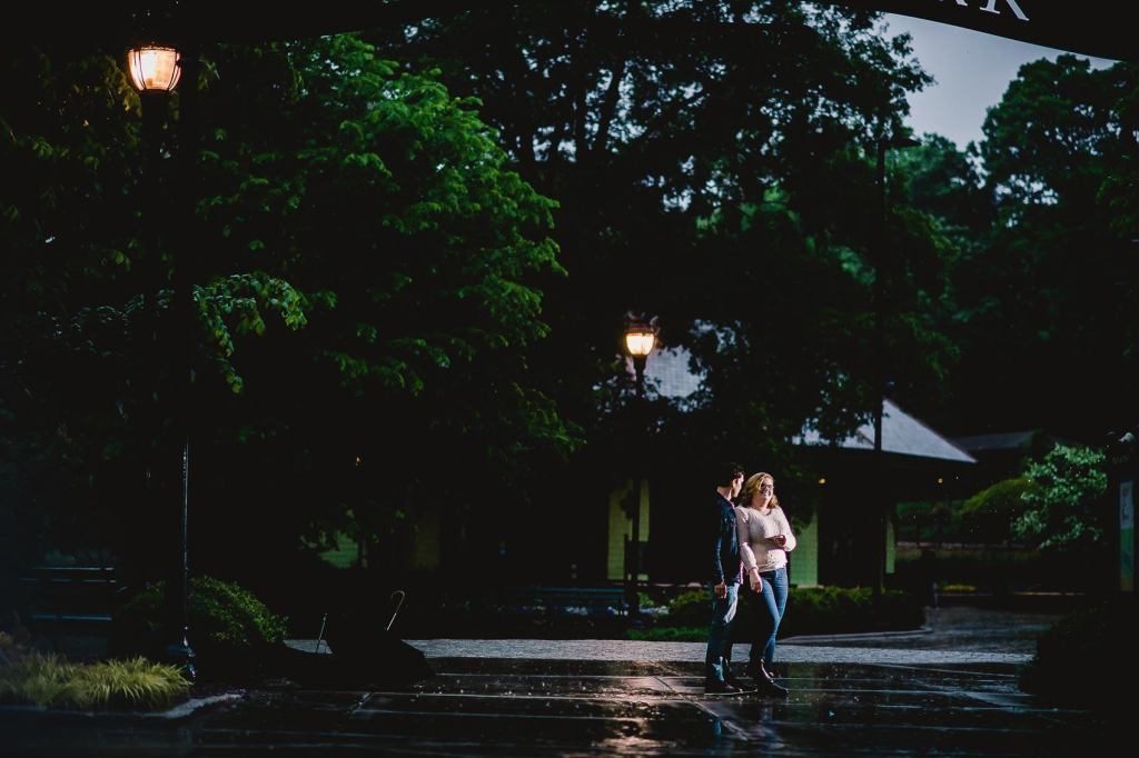 Nate and Katie's Pullen Park Engagement Photos in Raleigh North Carolina by Cary Wedding Photographer Dave Shay