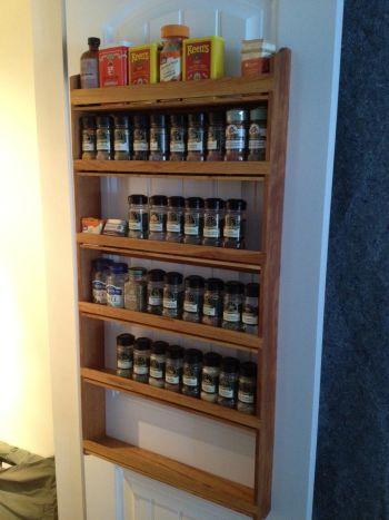 custom pine wood wall hanging spice rack in daveu0027s plain spice rack design