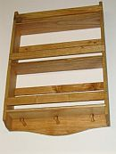 3 tier Pine wood spice rack.