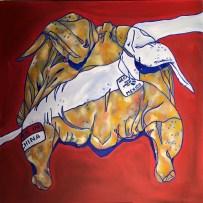 Free Range, Oil on Canvas, 30x30 inch, 2016