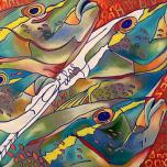 Fish Head #16, oil on canvas, 20x20, 2016