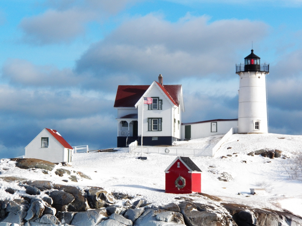 Winter Storm On The Maine Coast  Daves Thought On