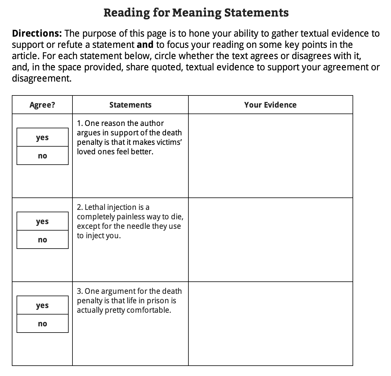 Heres What I Know About Reading For Meaning Statements Dave
