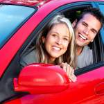 Couple in Red Car