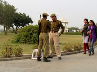 Serious security in India. This was at a Hindu temple in Jaipur