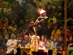 Aarti Ceremony (Ceremony of Lights) on the Ganges River.