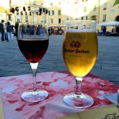Dinner in Lucca on the Piazza Anfiteatro