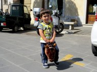 Loved this little boy on his hobby horse, Pitigliano