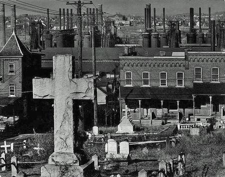 Walker Evans Graveyard and Steel Mill Bethlehem PA