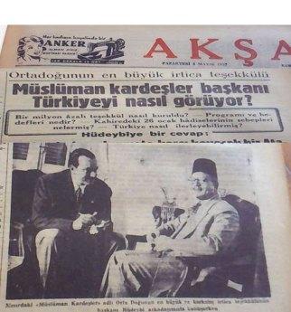 Akşam Gazetesi Yazar Hıfzı Topuz, 1952'de Müslüman Kardeşler lideri Hudeybi ile bir röportaj yapmıştı.