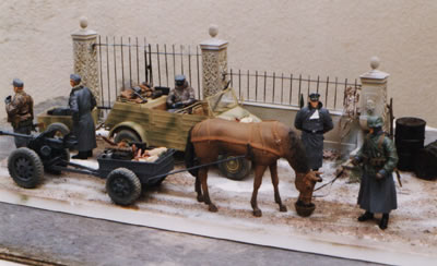 1/16th Scale Kubelwagon and Horse Drawn Diorama