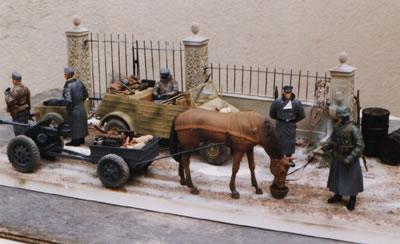 1/16th Scale Kubelwagon and Horse Drawn Diorama