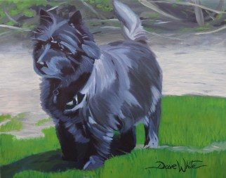 """dog painting"", ""dave white painting"", ""pet painting"", ""dog portrait"", ""pet portrait"", ""cairn terrier painting"""