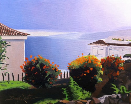 Tenerife, Canary Islands, Oil Painting, Art, Artist Dave White, Ocean View, tenerife painting, canary islands painting