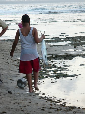 Boy with Fish Puerto Viejo Costa Rica