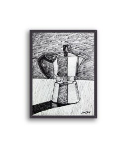moka coffee art, coffee art, moka art print