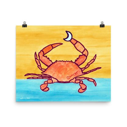 Cancer Crab Zodiac Art Print