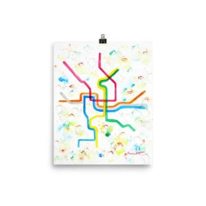 Washington DC Metro Map Art