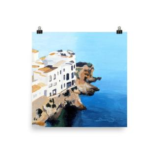 Ibiza Spain Seascape Painting Art Print