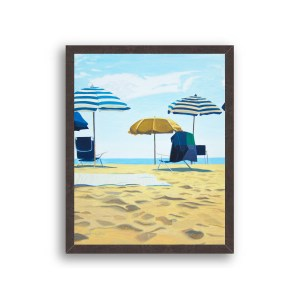 Rehoboth Beach Painting Black Wood Frame