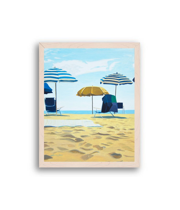 Rehoboth Beach Painting Off White Wood Frame