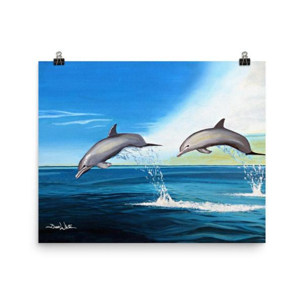 Dolphins Painting Art Print