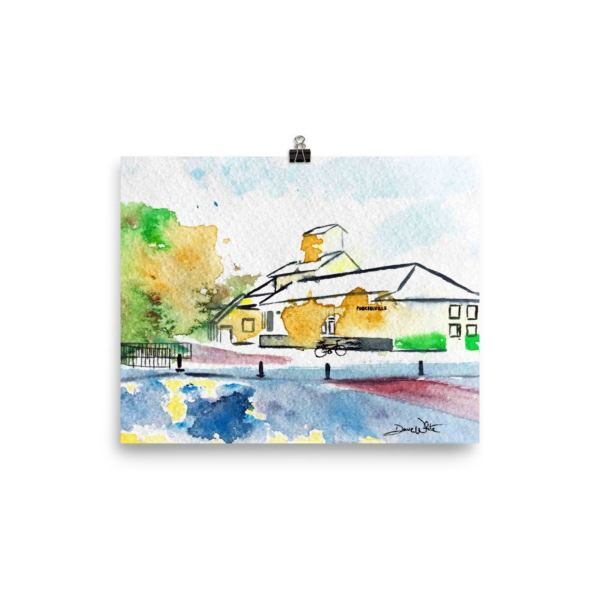 W&OD Trail Painting Purcellville Art Print 12x16