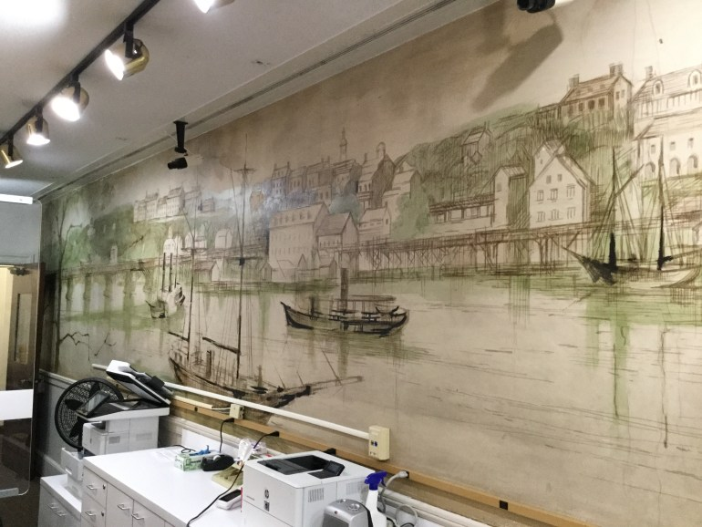 Historical Mural at Bank of America branch in Georgetown, Washington DC