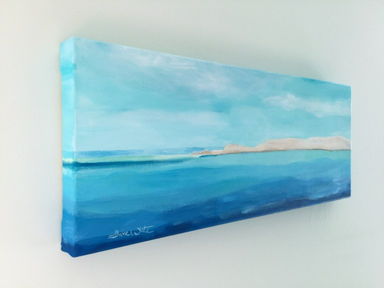 Side of Canvas Formentera Painting