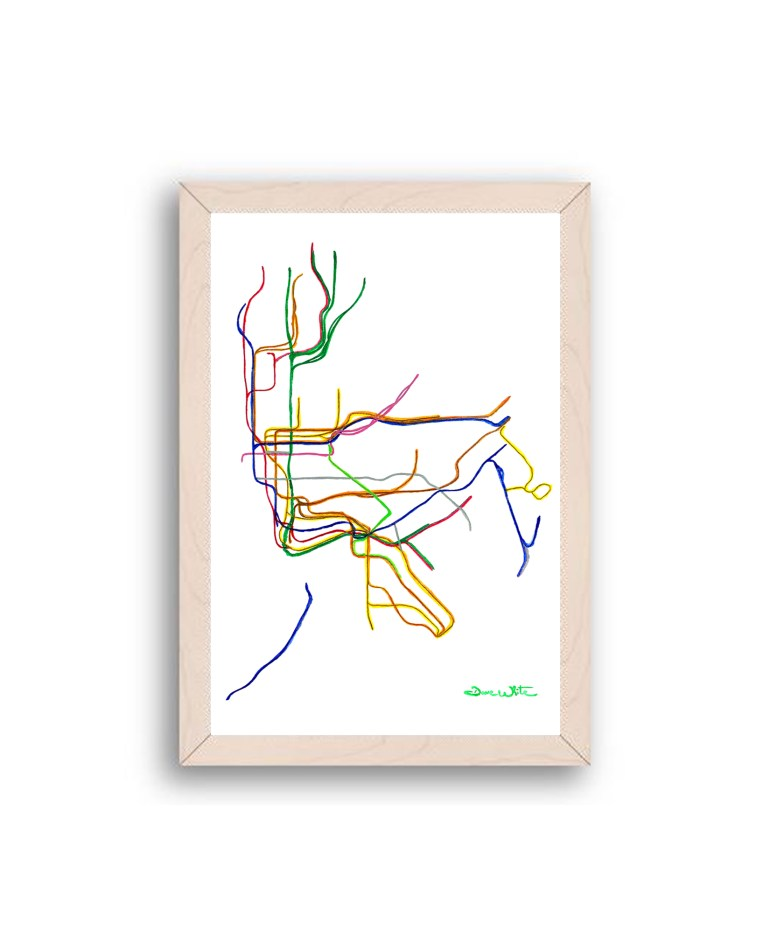 NYC-Subway-Map-Art-Print-Off-White-Frame