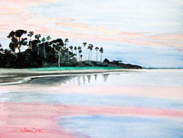 crystal beach, florida, palm harbor, pinellas, beach painting, artist dave white