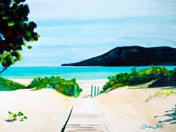 Flamenco Beach, Puerto Rico, Isla Culebra, beach, beach painting, art, artist dave white