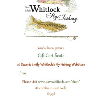 Whitlock WebStore Gift Certificates
